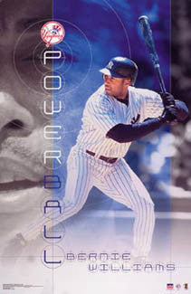 "Bernie Williams ""Powerball"" New York Yankees Poster - Starline 2002"