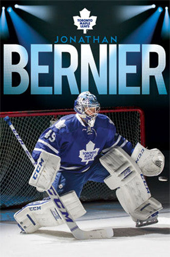 "Jonathan Bernier ""Spotlight"" Toronto Maple Leafs NHL Hockey Poster - Costacos 2013"