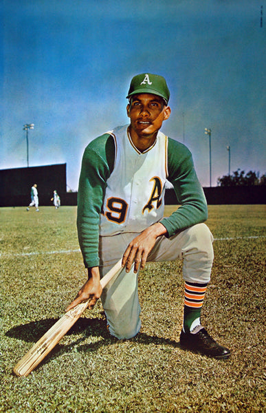 Bert Campy Campaneris Oakland A's MLB Baseball Vintage Original Poster - Major League Posters 1968