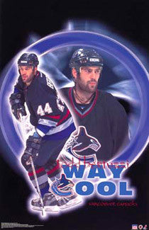 "Todd Bertuzzi ""Way Cool"" Vancouver Canucks Poster - Starline 2002"