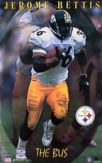 "Jerome Bettis ""The Bus"" Pittsburgh Steelers NFL Poster - Starline 1998"