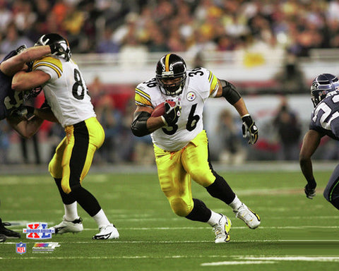 Jerome Bettis Super Bowl XL Rush Pittsburgh Steelers Premium Poster Print - Photofile Inc.