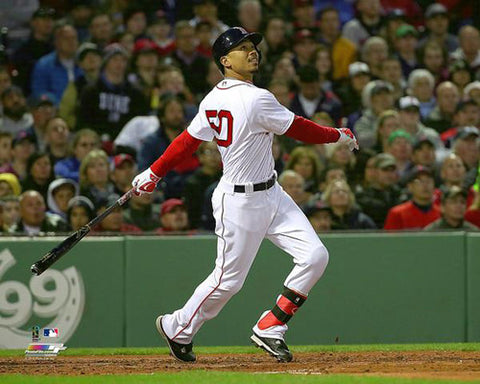 "Mookie Betts ""Big Blast"" Boston Red Sox Premium MLB Poster Print - Photofile 16x20"