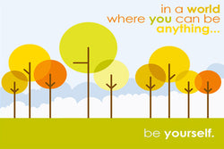 "Individuality ""Be Yourself"" (Standout Tree) Poster - Slingshot Publishing"