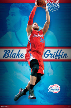 "Blake Griffin ""Rise Up"" L.A. Clippers NBA Action Poster - Costacos 2012"