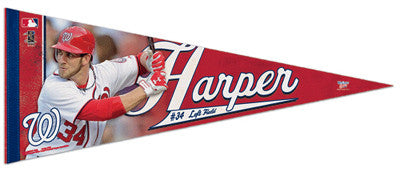 "Bryce Harper ""Nationals Action"" Premium Felt Collector's Pennant - Wincraft 2012"