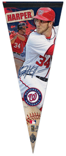 "Bryce Harper ""Big-Time"" EXTRA-LARGE Nationals Premium Felt Pennant - Wincraft"
