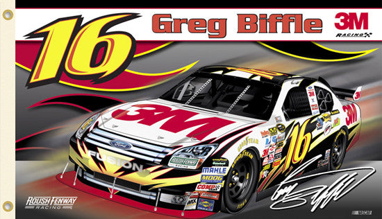 "Greg Biffle ""Biffle Nation"" 3'x5' Banner Flag - BSI 2009"