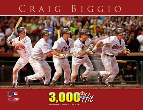 "Craig Biggio ""3,000th Hit"" (2007) Houston Astros Premium Poster Print - Photofile Inc."