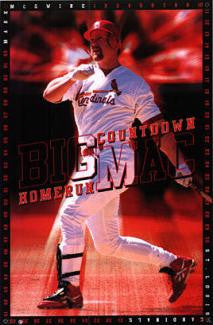 "Mark McGwire ""Big Mac HR Countdown"" St. Louis Cardinals Poster - Costacos 1997"