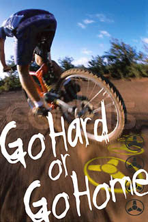 "Off-Road Cycling ""Go Hard or Go Home"" Action Poster - Eurographics"