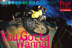 "Freestyle BMX Cycling ""You Gotta Wanna"" Poster - Eurographics"
