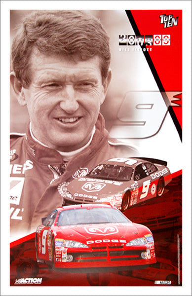 "Bill Elliott ""Top Ten 2003"" NASCAR Racing Premium Poster - Action Collectables"