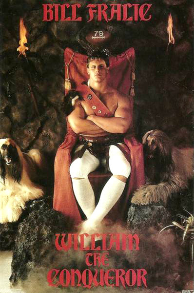 "Bill Fralic ""The Conqueror"" (1987) Atlanta Falcons Poster - Costacos Brothers"