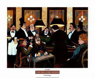 The Billiard Room Art Print by Guy Buffet