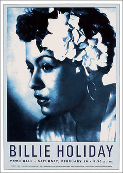 "Billie Holiday ""Town Hall"" 1946 Jazz Concert Poster Recreation - Jazz Age Editions c.2001"