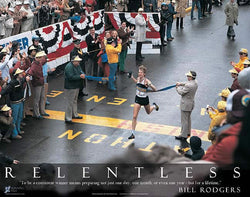 "Bill Rodgers ""Relentless"" 1979 Boston Marathon Finish Premium Poster - Running Past"