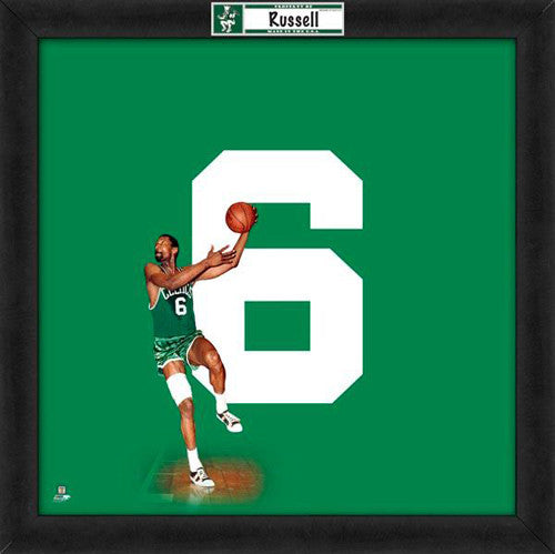 "Bill Russell ""Number 6"" Boston Celtics NBA FRAMED 20x20 UNIFRAME PRINT - Photofile"