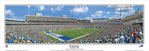 "Buffalo Bills ""28 Yard Line"" NFL Gameday Panoramic Poster Print - Everlasting Images"
