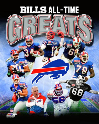 Buffalo Bills Football All-Time Greats (9 Legends) Premium Poster Print - Photofile Inc.