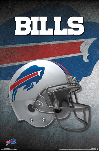 Buffalo Bills Official NFL Football Team Helmet Logo Poster - Trends International