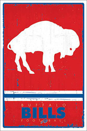 *SHIPS 5/25* Buffalo Bills NFL Heritage Series Official NFL Football Team Retro Logo Poster - Trends