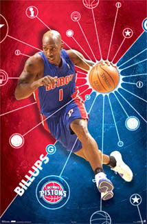 "Chauncey Billups ""Drive"" Detroit Pistons Poster - Costacos 2006"