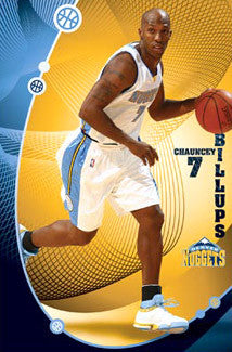 "Chauncey Billups ""Mile High"" Denver Nuggets Poster - Costacos 2009"