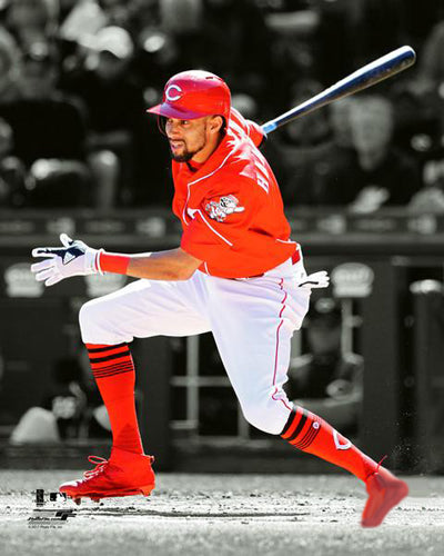 "Billy Hamilton ""Slap-and-Dash"" Cincinnati Reds Premium Poster Print - Photofile 16x20"