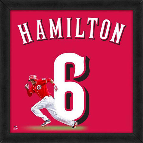 "Billy Hamilton ""Number 6"" Cincinnati Reds FRAMED 20x20 UNIFRAME PRINT - Photofile"