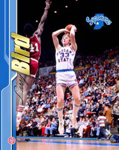 "Larry Bird ""ISU Action"" (c.1979) Premium Poster Print - Photofile Inc."