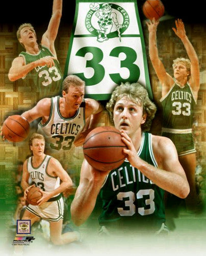 "Larry Bird ""33 Forever"" Boston Celtics Premium Commemorative Poster Print - Photofile 20x24"