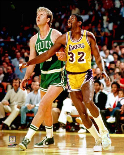 "Larry Bird vs. Magic Johnson ""Rivalry"" (c. 1985) Premium Poster Print - Photofile Inc."