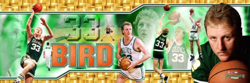 "Larry Bird ""Parquet Panorama"" Boston Celtics Career Commemorative Poster Print - Photofile Inc."