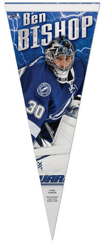 "Ben Bishop ""Signature"" Tampa Bay Lightning Premium Felt Collector's Pennant - Wincraft 2014"