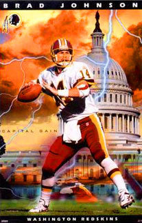 "Brad Johnson ""Capital Gain"" Washington Redskins QB Poster - Costacos 2000"