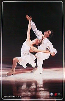 Ice Dancers Shae-Lynn Bourne and Victor Kraatz AUTOGRAPHED Poster - PSA Publishing Ltd 1997