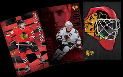 COMBO: Chicago Blackhawks 3-Poster Combo (Kane, Toews, Mask Logo Posters)