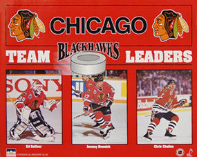 "Chicago Blackhawks ""Team Leaders"" (1993) - Starline 16x20"