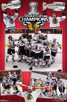 Chicago Blackhawks Stanley Cup 2010 CELEBRATION Commemorative Poster - Costacos