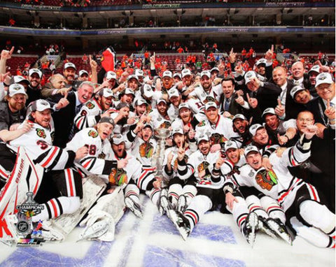 Chicago Blackhawks Stanley Cup 2010 On-Ice Championship Celebration Premium Poster - Photofile Inc.