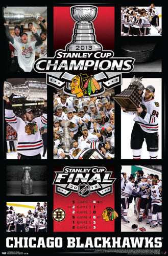 Chicago Blackhawks 2013 Stanley Cup CELEBRATION Commemorative Poster