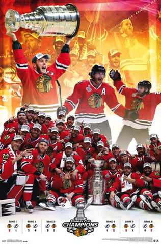 Chicago Blackhawks 2015 Stanley Cup CELEBRATION Commemorative Poster - Trends