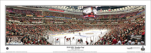 Chicago Blackhawks 2010 Stanley Cup Champs Panoramic Poster Print - Everlasting Images