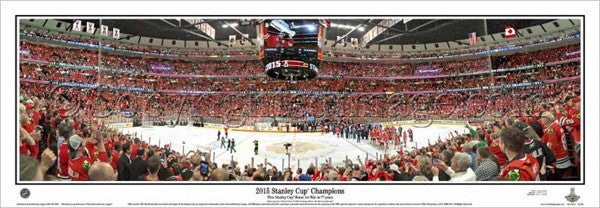 Chicago Blackhawks 2015 Stanley Cup Champions Panoramic Poster Print - Everlasting (IL-383)