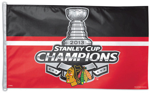 Chicago Blackhawks 2013 Stanley Cup Champs Official NHL 3'x5' Flag - WIncraft Inc.