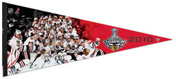 Chicago Blackhawks 2010 Stanley Cup Champs Celebration EXTRA-LARGE Premium Pennant - Wincraft Inc.