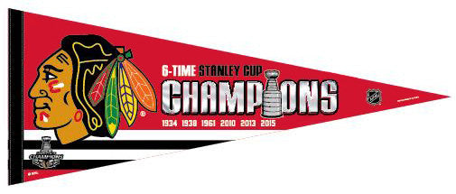 Chicago Blackhawks 2015 Stanley Cup Champions Premium Felt Pennant - Wincraft Inc.