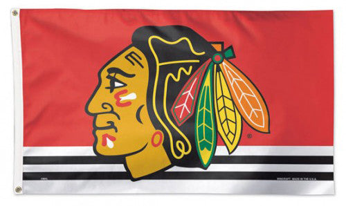 Chicago Blackhawks Official NHL 3'x5' DELUXE Flag - Wincraft Inc.