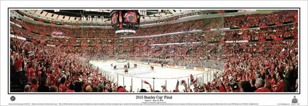 Chicago Blackhawks 2015 Stanley Cup GAME 6 Panoramic Poster Print - Everlasting (IL-384)
